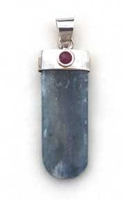 Kyanite Pendant with Ruby