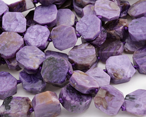 Russian Charoite beads polished slices