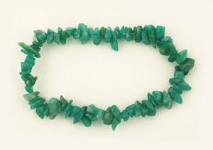 Amazonite Gemstone Chip Bracelet
