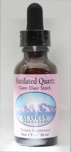 Rutilated Quartz Gem Elixir 1 oz Alaskan Essences