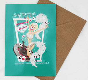 Sagittarius Card Birthday Post Card