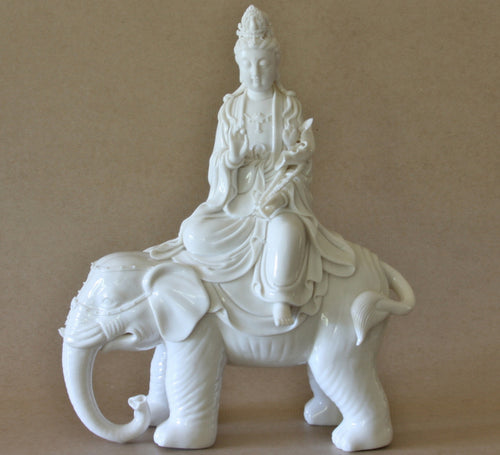 Buddha on Elephant Statue