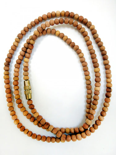 Sandalwood 3mm Bead Necklace 18 inch