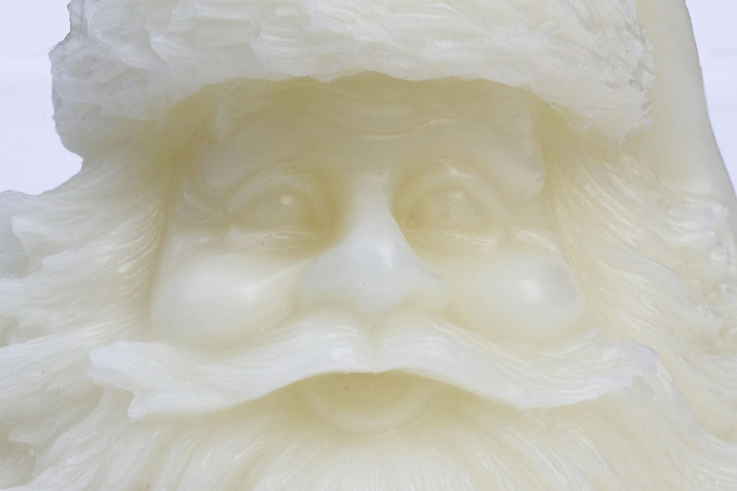 Santa candle with all the health benefits of beeswax. It's big!