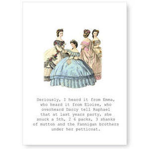Victorian Blank Greeting Cards with Glittered Embellishment