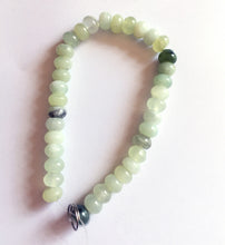 Load image into Gallery viewer, Green Serpentine Beads 8 inch strand of 8mm rondelles