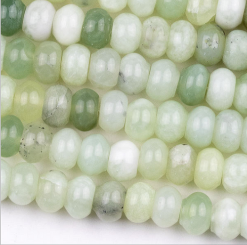 Serpentine Beads - One Strand of 5mm by 8mm Rondelle Beads
