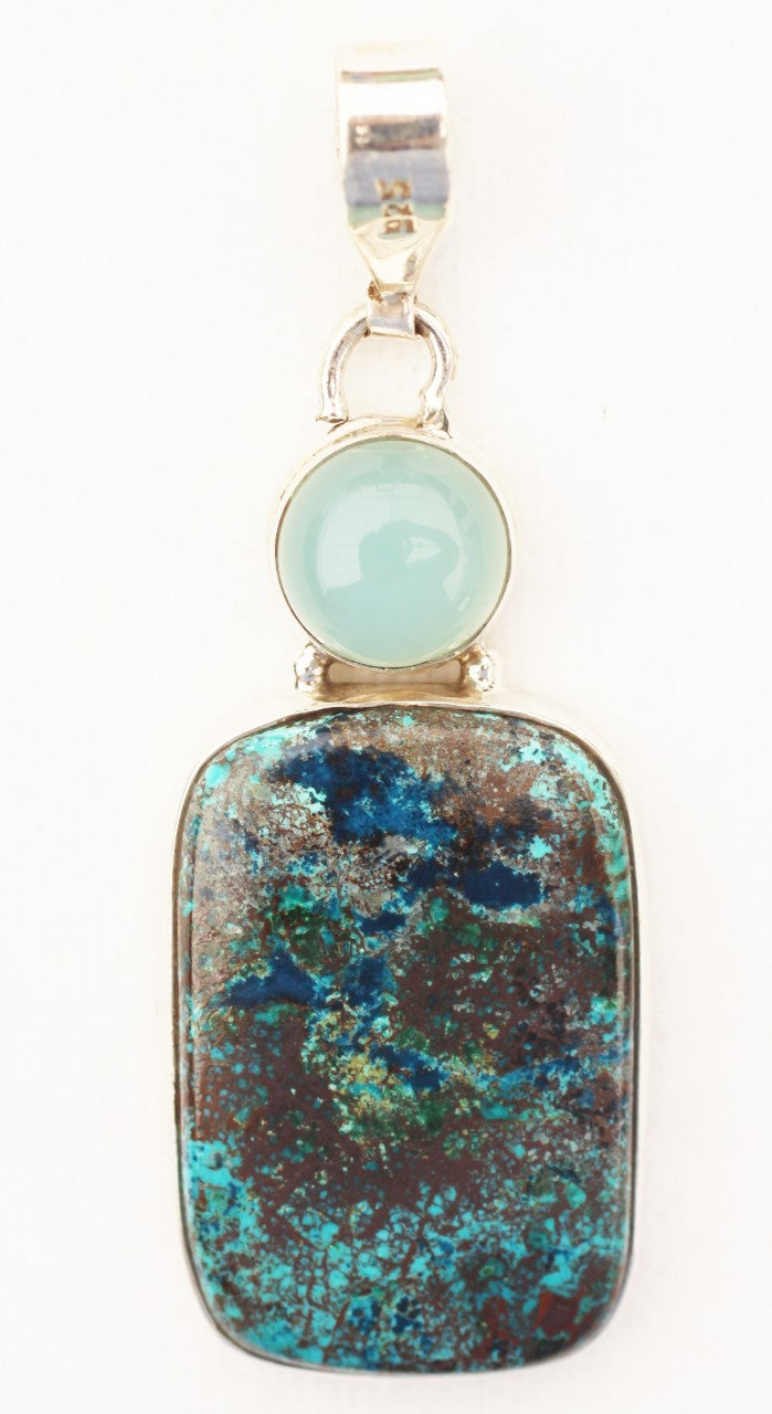 Shattuckite Pendant with an Opal