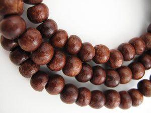 Indian Rosewood aka Sheesham Wood 8mm (not knotted) Mala