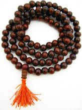 Load image into Gallery viewer, Indian Rosewood aka Sheesham Wood 8mm (not knotted) Mala