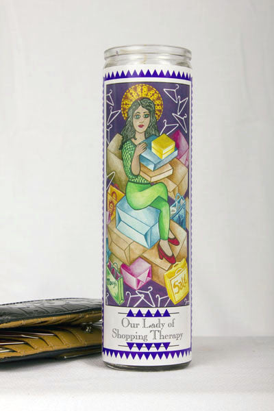 Our Lady of Shopping Therapy Prayer Candle