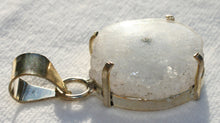 Load image into Gallery viewer, Solar Quartz Pendant in Sterling Silver Prong Style Setting