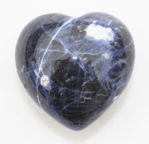Sodalite Heart 1.5 inches Puffy Heart
