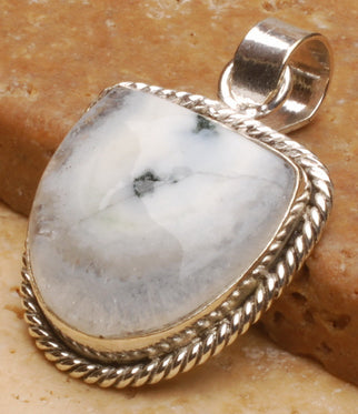 Solar Quartz Pendant in Shield Shape