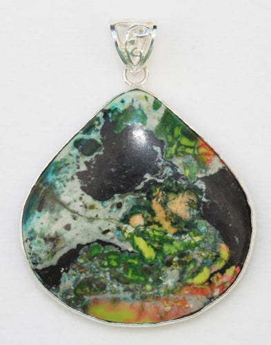 Sonora Sunrise Jasper Pendant in wonderful wide pear shape.