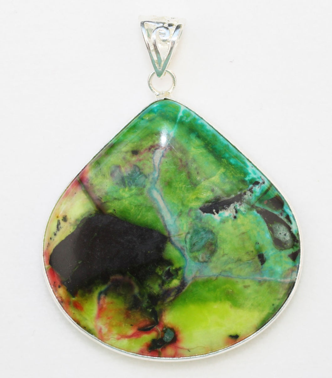 Sonora Sunrise Jasper Pendant looks like abstract art