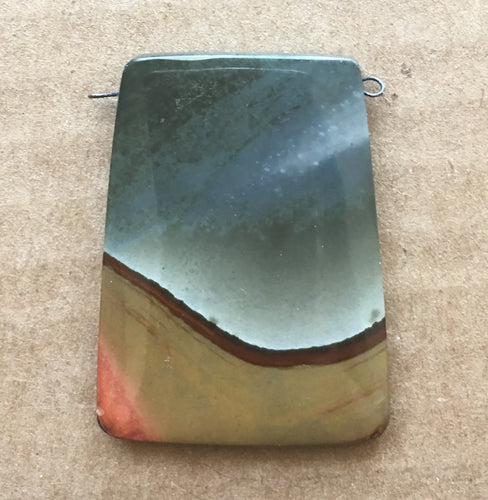 Succor Creek Jasper Bead Drilled Side-to-Side