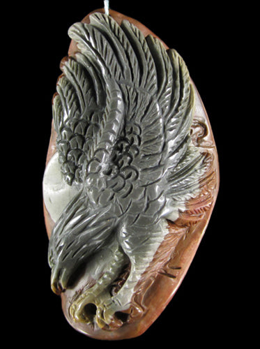 Succor Creek Jasper Eagle Focal Bead