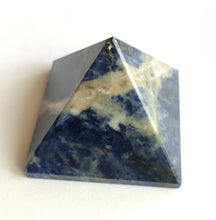 Load image into Gallery viewer, Sunset Sodalite Pyramid Blue and Orange
