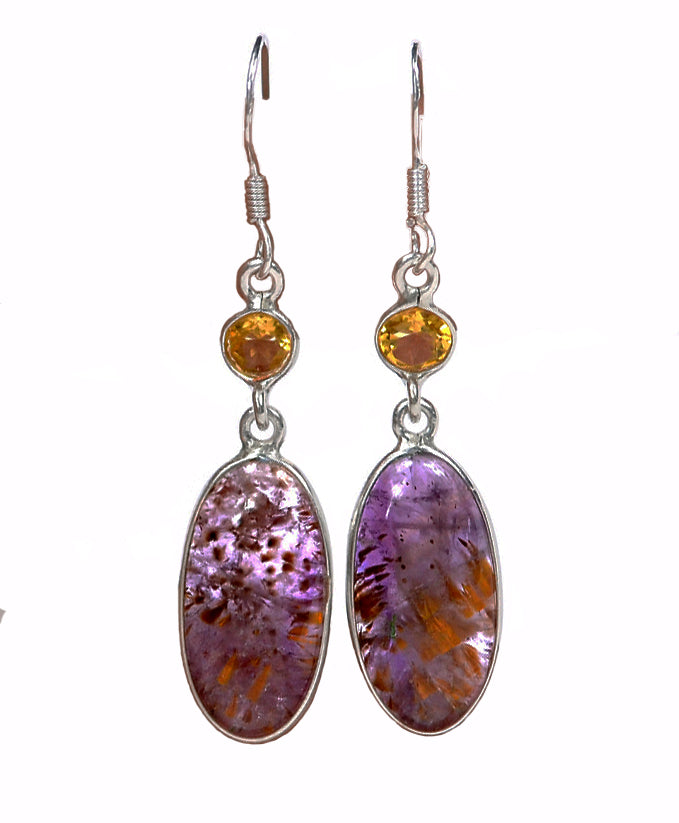 Super Seven Stone and Citrine Earrings