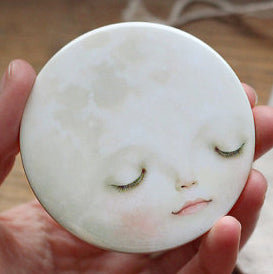 Sweet Moon Pocket Mirror - 3 inches big, but very lightweight!