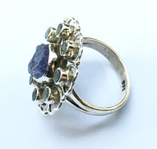 Load image into Gallery viewer, Tanzanite and Blue Topaz Ring Size 6.5
