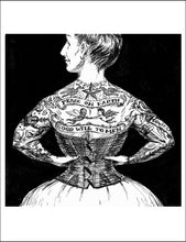 Load image into Gallery viewer, Peace on Earth Tattoo Lady Christmas Card