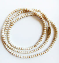 Load image into Gallery viewer, Water Buffalo Bone 20 Inch Tea-Stained 3mm Bead Necklace