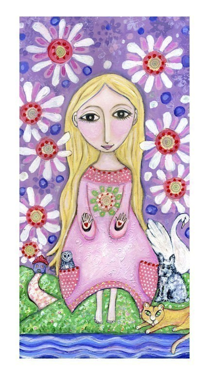 Whimsical Art Print by Lindy Longhurst - The Healer Print