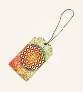 Flower of Life unique gift tag