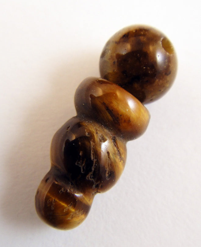 Golden Tiger's Eye Mala Guru Bead for Stringing Your Own Mala