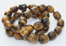 Load image into Gallery viewer, Tigers Eye Bracelet Oval Bubble Bead Stretch Bracelet