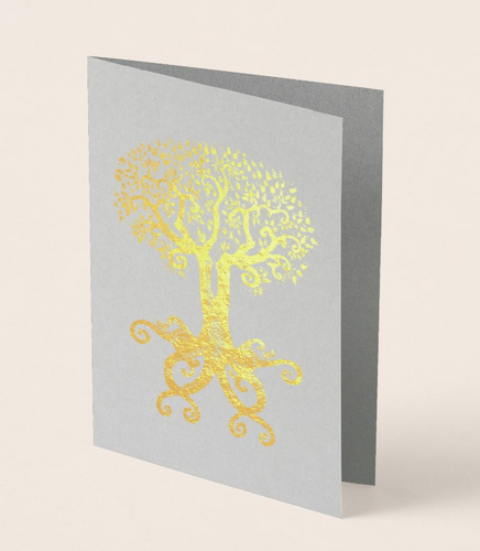 Tree of Life Foil Greeting Card
