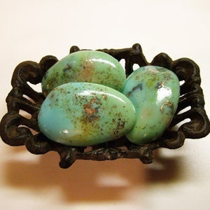 Organic Turquoise Soap Rock with Essences of Orange and Cinnamon - Heavenly Light and Airy Scent