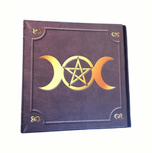 Load image into Gallery viewer, Triple Moon Wiccan Pentagram 2 Inch 3-Ring Binder