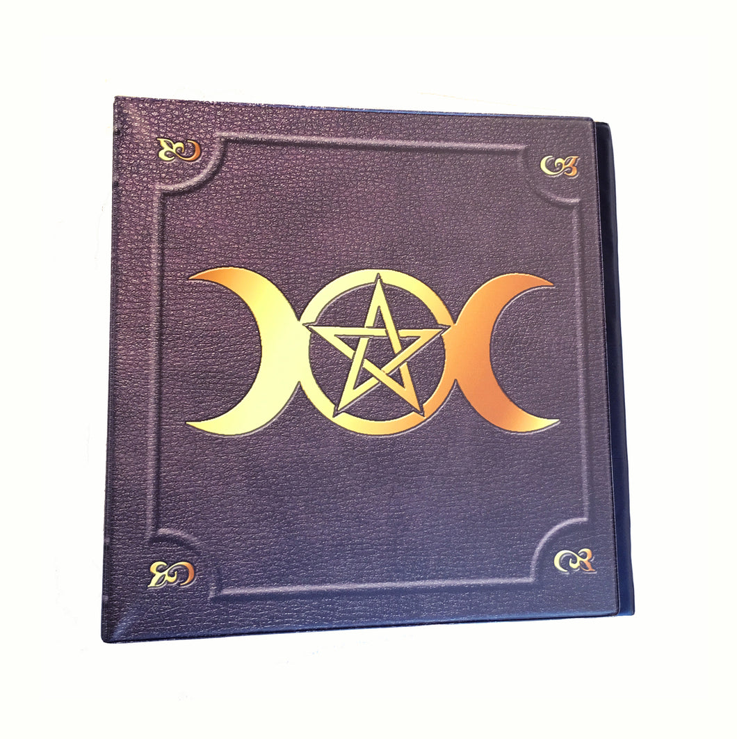 Triple Moon Wiccan Pentagram 2 Inch 3-Ring Binder
