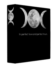 Load image into Gallery viewer, Triple Moon Pentacle of Shadows 1.5 Inch 3 Ring Binder