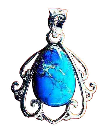 Blue Sea Sediment Jasper Pendant in a pear shape