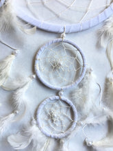 Load image into Gallery viewer, Angelic White Dream Catcher