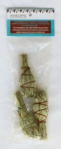 Mini Smudge Sticks of Sustainably Harvested White Sage 3 sticks
