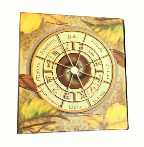 Wiccan Wheel of the Year Avery 3-Ring Binder with Pagan Prayer