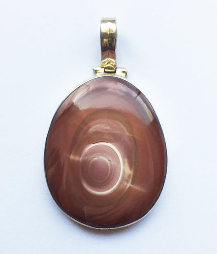 Willow Creek Jasper Pendant large oval in cocoa hues