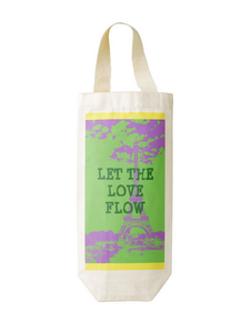 Let the Love Flow Cotton Wine Tote