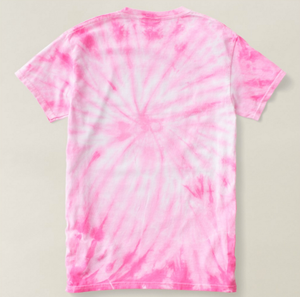 Unicorn Pink Tie Dye Cotton Tee Misses Large