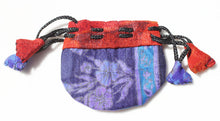 Load image into Gallery viewer, Silk Sari Drawstring Pouch Bag in small size