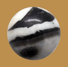 Load image into Gallery viewer, Zebra Jasper or Zebra Agate Sphere 30mm