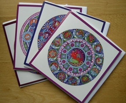 Zodiac Card Colorful Mandala Card