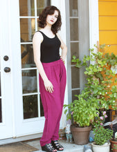Load image into Gallery viewer, Tienda Ho Fuchsia Cotton Rayon Moroccan Harem Pants