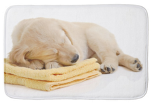 Load image into Gallery viewer, Cute Bath Mat of Golden Retriever Puppy