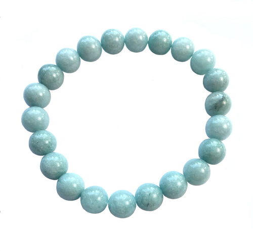 Aquamarine Bracelet  of 8mm Round Beads